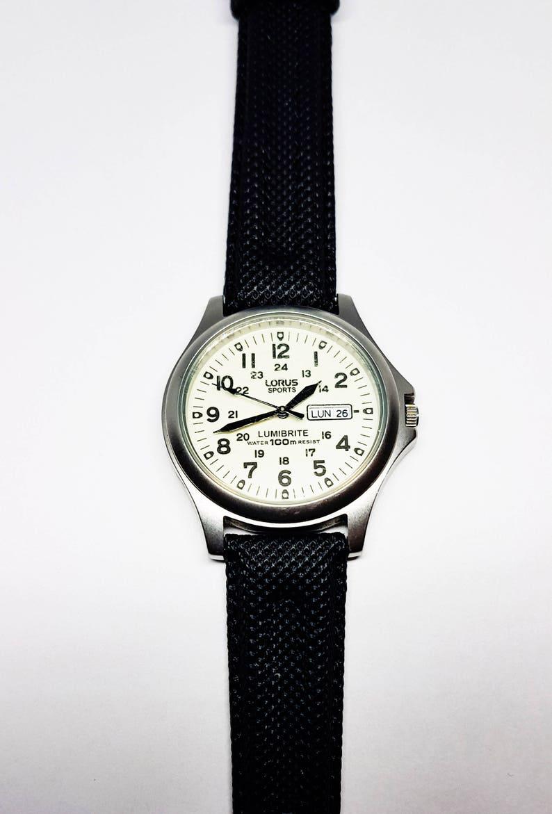 81f804a4717 Lorus Watch Sports Watch lumibrite watch SIlver Watch