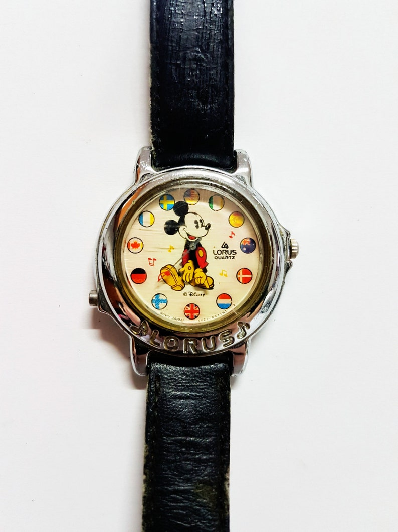 700bfabe07 Lorus Mickey Mouse Musical watches for women and men Mens and   Etsy