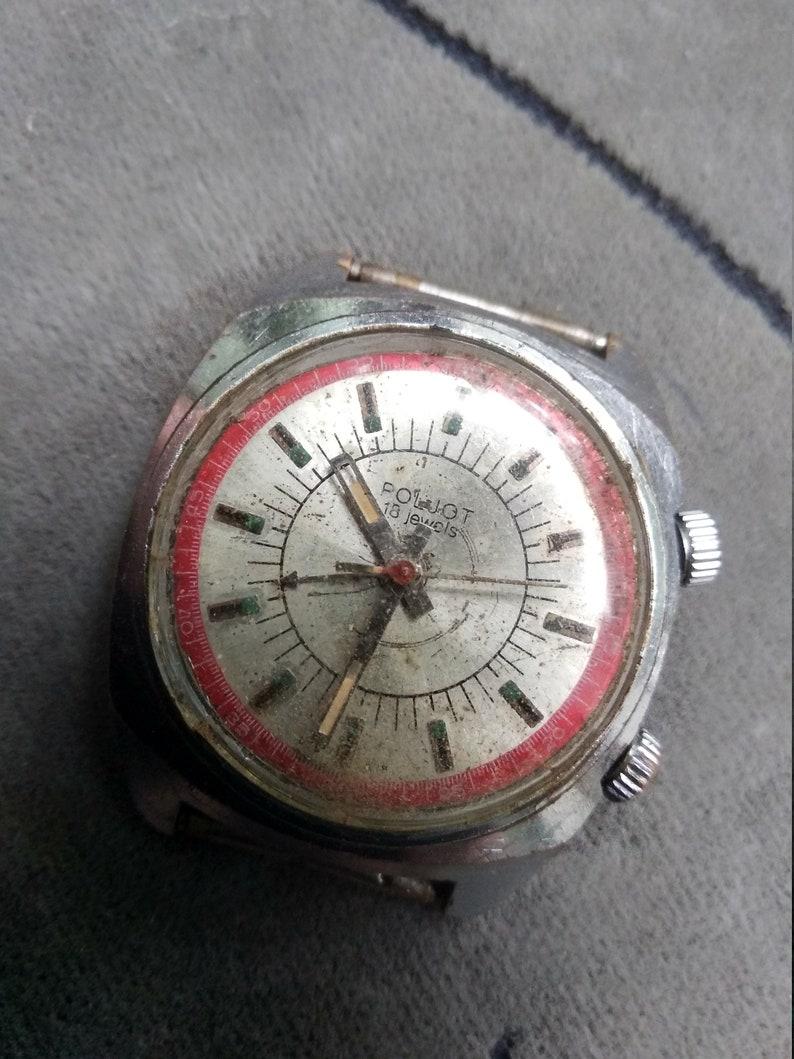 322d89ae030e Hand watch Poljot Signal alarm under repair or spare