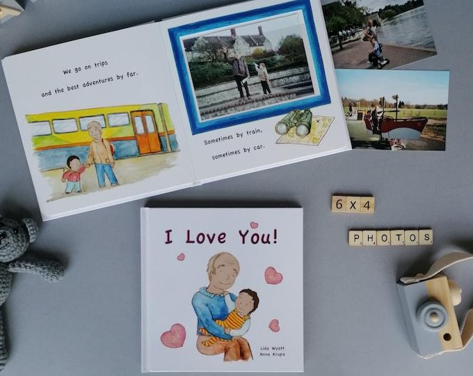 I Love You! -dark haired child - Gift for Grandpa, Grandad, Gramps, Papa, Pops ..