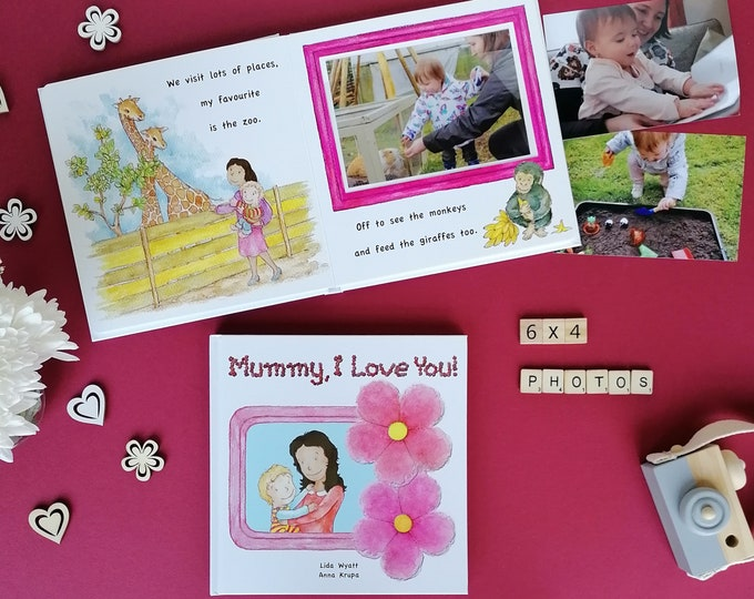 Mummy, I Love You! - mummy dark hair/light skin & child light hair/light skin
