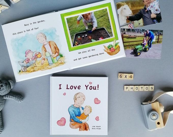 I Love You! - light haired child - Gift for Grandpa, Grandad, Gramps, Papa, Pops..