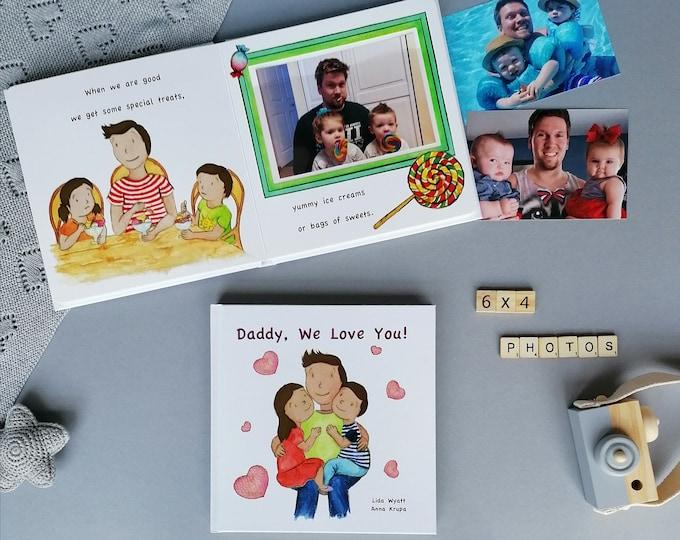 Daddy, We Love You! - Girl & Boy Dark Hair/Light Skin