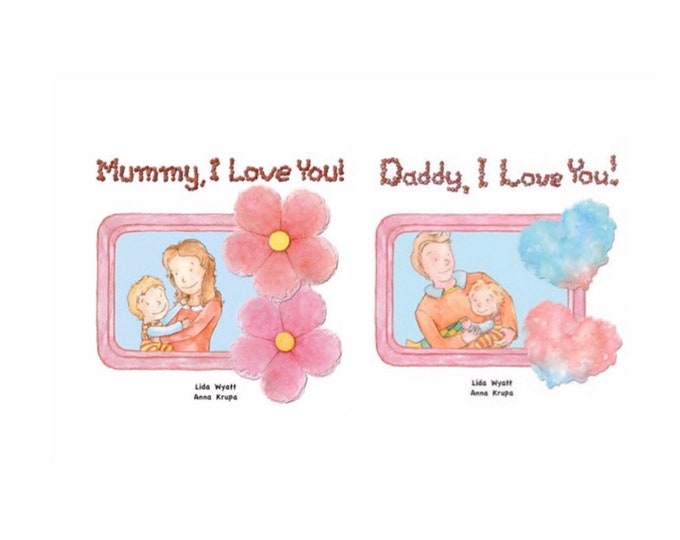 Parent's set of 2 books - Choose from our existing hair/skin colour options