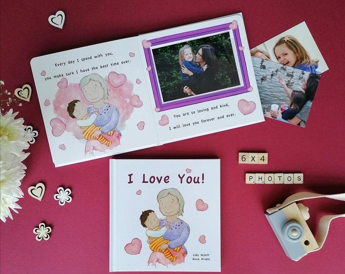 I Love You! - dark haired child - Gift for Grandma, Nanny, Nana, Granny, Nan..