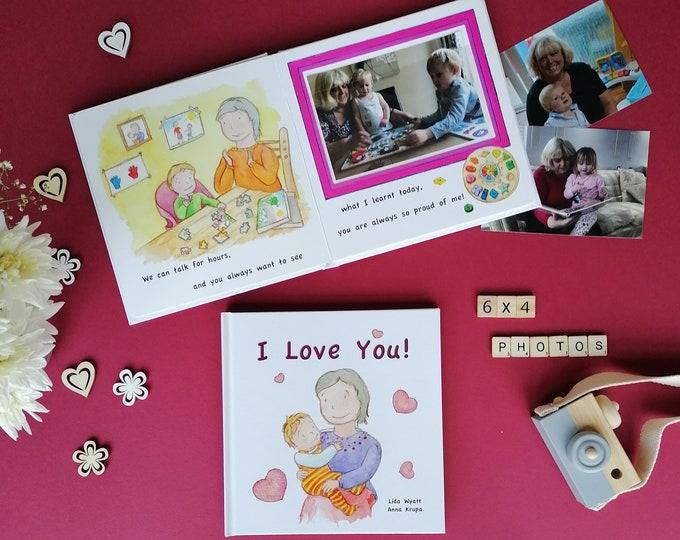 I Love You! -  light haired child  - Gift for Grandma, Nanny, Nana, Granny, Nan..