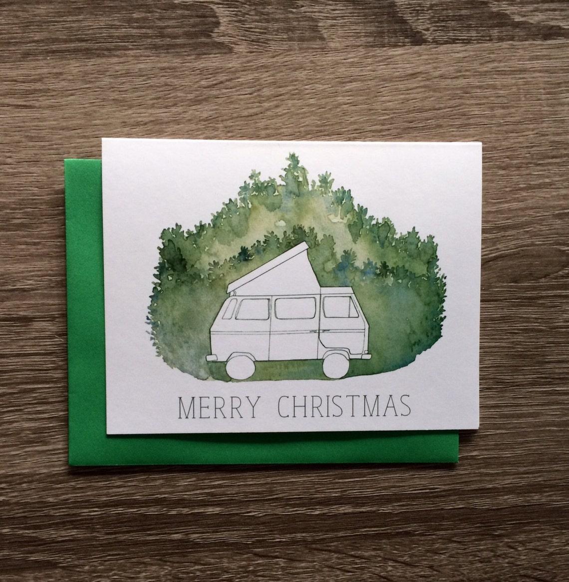 VW Westfalia Christmas Card Set