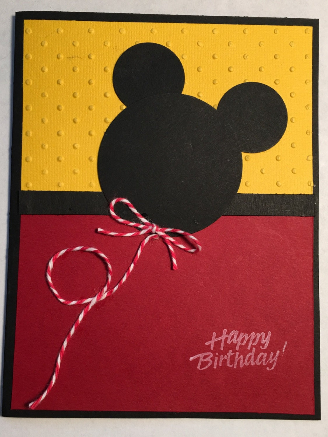 Fun Birthday Cardmicky Mouse Card Happy Birthday Cardskids Etsy