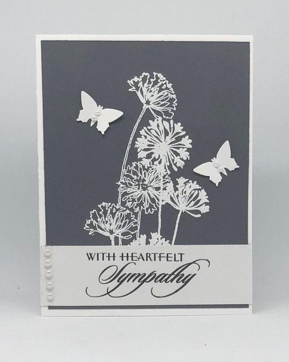 Nouveau Condoléances de sympathie pour la perte de votre chat Carte Beau Design Blanc