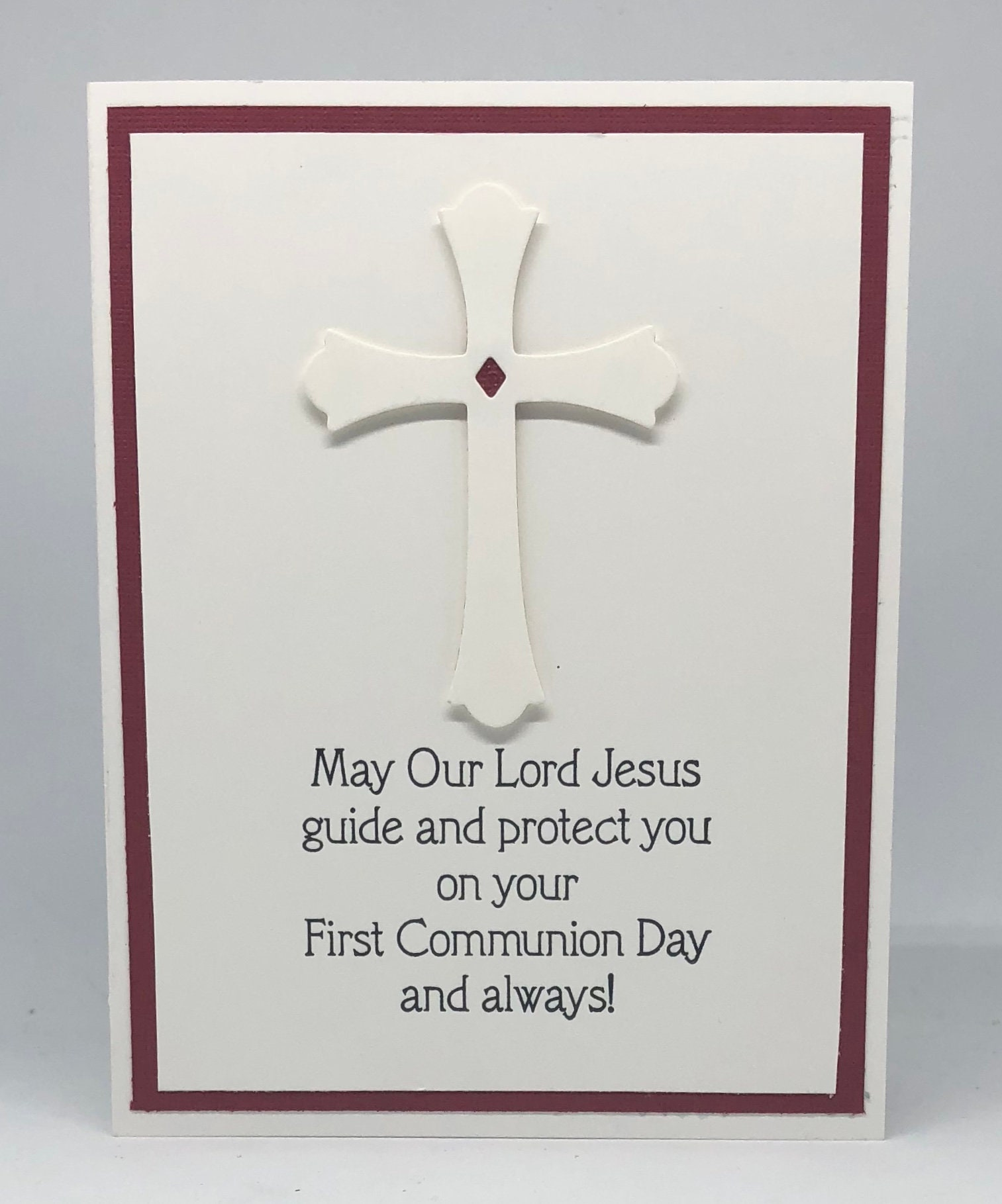 First Holy Communion Card Happy First Communion Holy Etsy