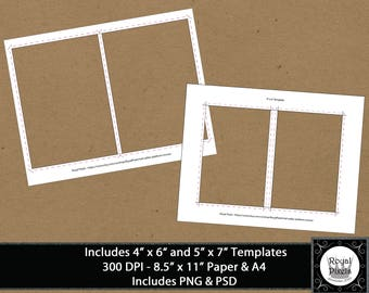 4x6 template invitation template card template png psd etsy