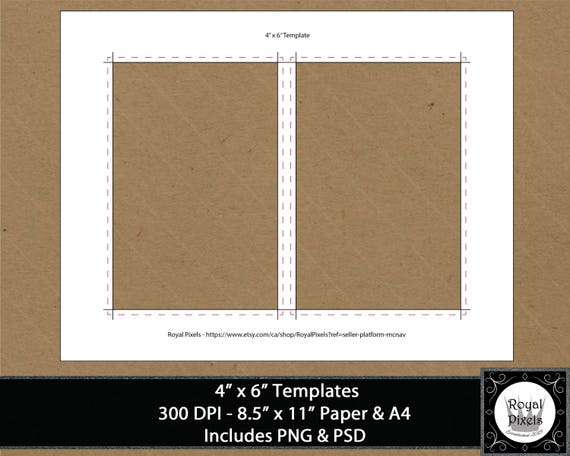 4x6 template invitation template card template png psd etsy stopboris Images
