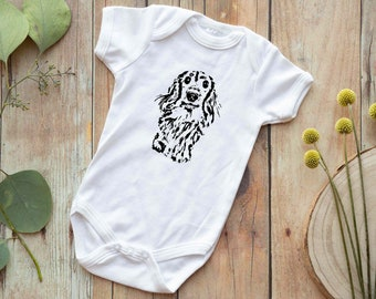 b5d464771 Long Haired Dachshund Baby Bodysuit, Dog Sibling, Cute Baby Clothes,  Dachshund Lover Baby Shower Gift