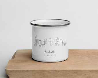 Nashville Tennessee - Fight Like Cam - White glossy mug