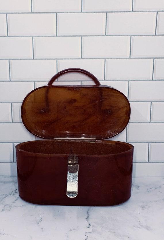 Vintage lucite tortoise shell purse