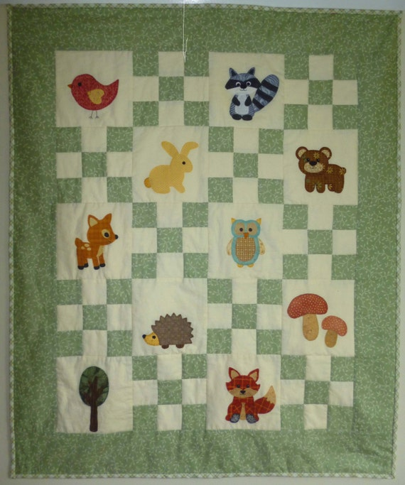 Walk In The Woods Woodland Theme Pdf Patchwork Quilting Sewing Etsy