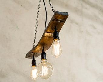rustic pendant light fixtures vintage rustic pendant light barrel stave for lights light etsy