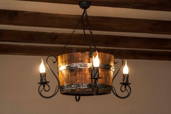 Wine Barrel Chandelier Rustic Ceiling Light
