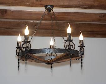 Rustic chandelier - Chandelier lighting - Ceiling lights - Wrought iron chandelier lights
