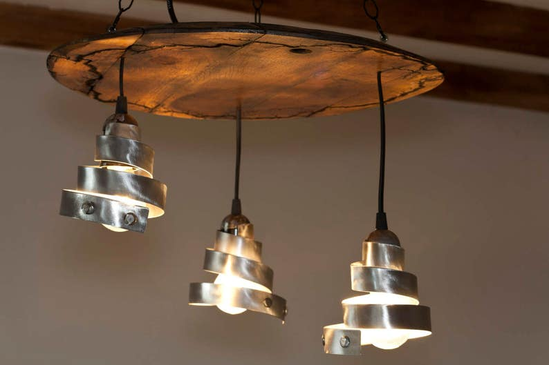 Wine Barrel Bottom Ceiling Lights