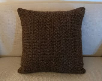 Woven Pillow, Brown Woven Cushion, Throw Pillow, Decorative Pillow, Home Decor, Home Accents, Home and Living, Home Accessories, Woven