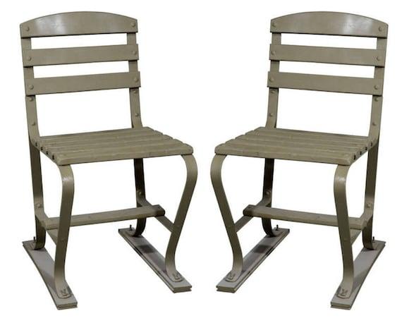 Gartenstuhl amerikanische Holz und Metall Gartenstühle grün | Etsy