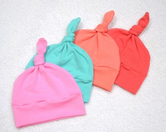 5932f2b1242 Solid color baby hat