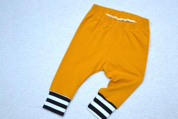 Fall Baby Unisex Leggings Mustard Yellow Baby Leggings Baby Etsy