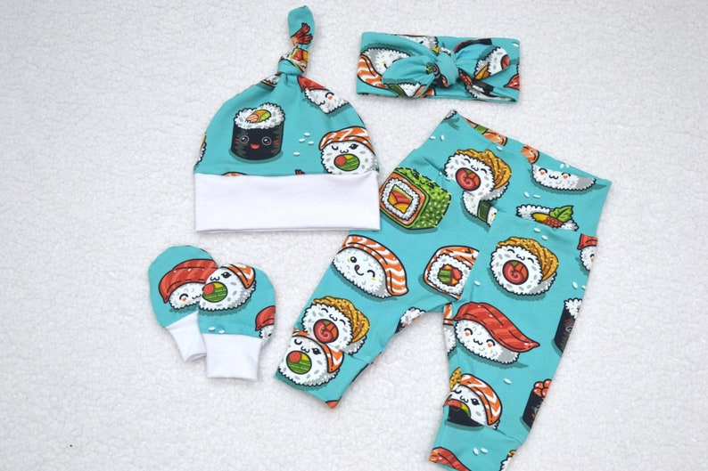 Baby Shower Gift Baby Girl Outfit Baby Boy Outfit Newborn Outfit Sushi Outfit Take Home Outfit
