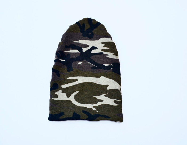 d6810936394 Reversible Hat Black   Green Brown Camo Newborn Boys Hat