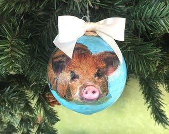 Swimming Pigs  Exuma Bahamas Holiday Ornament -Fathers Day Gift under 20 dollars!
