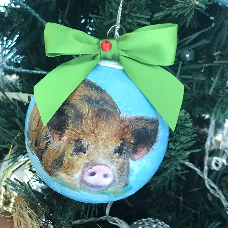Great Stirrup Cay Bahamas Ornament, Swimming Pig Tour Souvenir, Gift under  20 with Free Ground Shipping