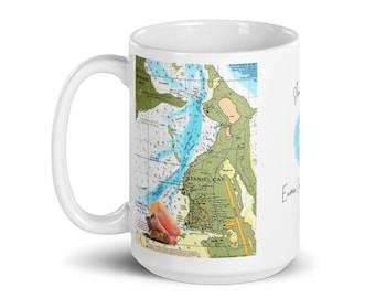 Staniel Cay Bahamas Nautical White glossy Mug