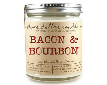 Bacon & Bourbon Candle - Fathers Day Gift, Man Candle, Fathers Day, Dad, Daddy, Gifts for him, Man Candles, Gifts for him, dad gift idea