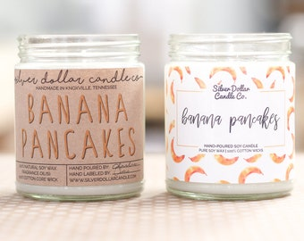 Banana Pancake Candle 8oz Scented Soy Candle, soy candles, candle, birthday gift, gift for her, mom Birthday, gift for mom, mens candle