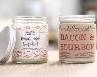 Bacon & Bourbon Candle - Father's Day, Man Candle, For Dad, Dad, Gifts for Dad, Man Candles, Gift for him, dad gifts