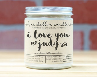 I Love you - Personalized 8oz Soy Candle | Valentine's Day, girlfriend gift, gifts for her, anniversary gift, soy candles, mothers day