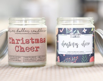 Christmas Cheer 8oz Scented Soy Candle, Christmas Gifts, Christmas for her, Stocking Stuffers, Fall Candles, Holiday Candle, Clove, Nutmeg
