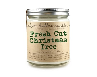 Fresh Cut Christmas Tree   Christmas Scented Candle, Christmas gift, 8oz Soy Candle, Christmas decor, Holiday Candle, Winter Home Decor, Fir