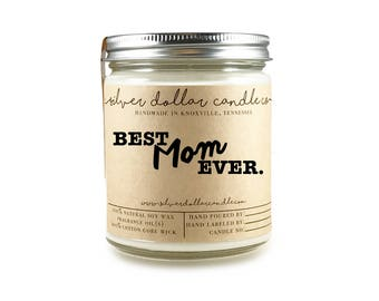 8oz Scented Candle Gift for Mothers Day, Mom Birthday, Best Mom Ever,Mom Gift, Mom Birthday Gift, Birthday for mom, Mom gifts, Gift for Her