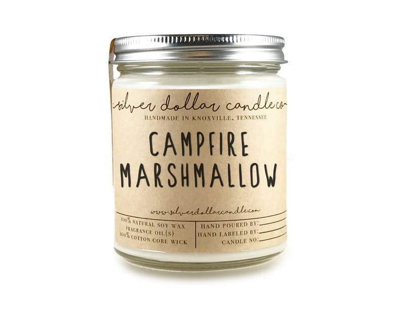 Campfire Marshmallow Scented Candle Soy Candle Marshmallow image 0