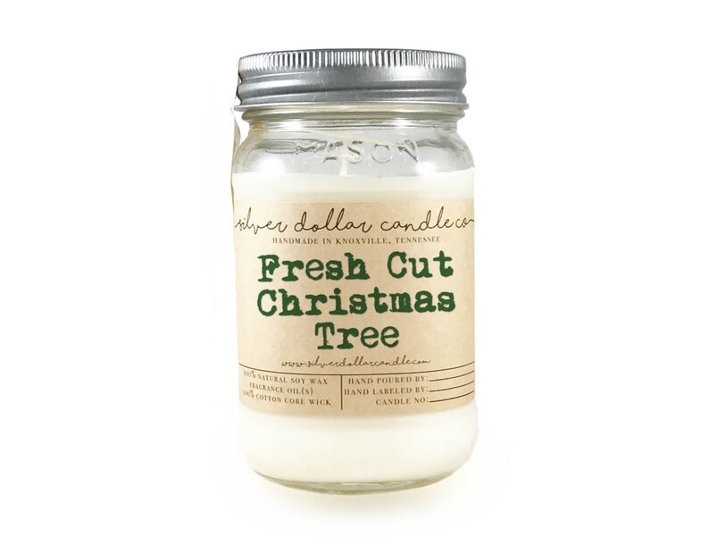 Fresh Cut Christmas Tree  Christmas Candle 16oz Mason Jar image 0