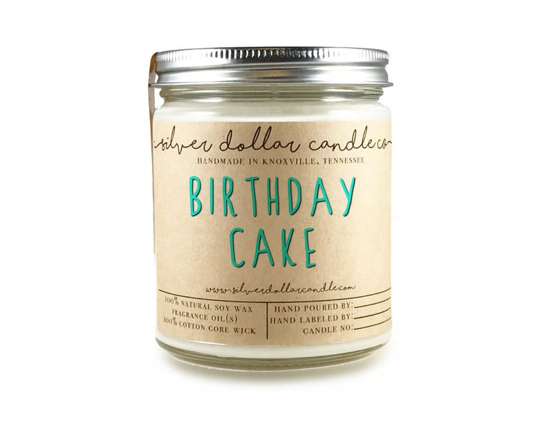Birthday Cake 8oz Scented Candle Hand Poured