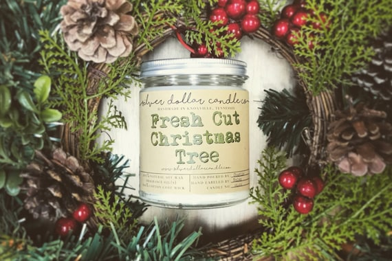Fresh Cut Christmas Trees.Fresh Cut Christmas Tree Holiday Scented Candle Christmas Gift 8oz Soy Candle Christmas Decor Holiday Candle Winter Home Decor Fir