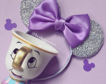 Gorgeous Minnie Mouse Ears with satin bow Fashion Minnie Headband Disney Style - Variety of colours to choose from!
