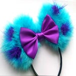 Made-To-Order Candy Floss Minnie Mouse Ears with Sparkle Bow Disney Fashion Minnie Ears - many colour combinations!