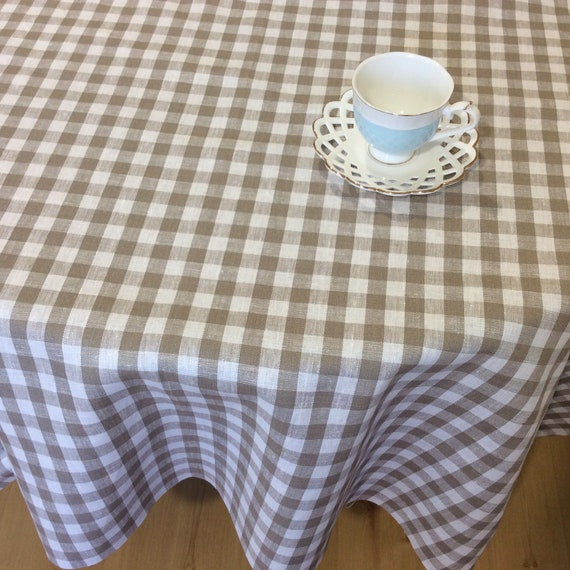 70 Inch Round Table Cloth.Round Linen Tablecloth 70 Inch Farmhouse Table Cloth Kitchen Table Decor Cottage Tablecloth