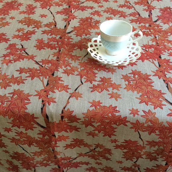 Farmhouse Tablecloth Floral Round Handmade Table Cloth Eco Etsy