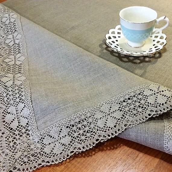 Ordinaire Linen Tablecloth Custom Table Cloth Vintage Lace Tablecloths | Etsy