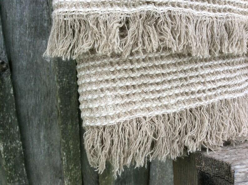Linen throw blanket Rustic Linen Coverlet Linen Bedspread Summer Blanket Softened Linen Bedding
